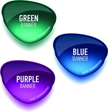 glass textured color banners graphic vector