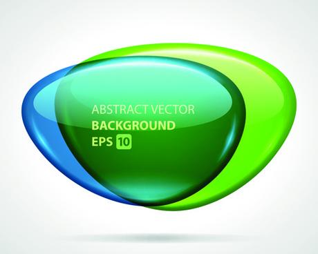 glass textured speech bubble background vector