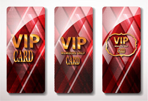 glass textured vip cards vector