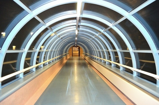 glass tunnel corridor