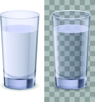 glass vector illustration
