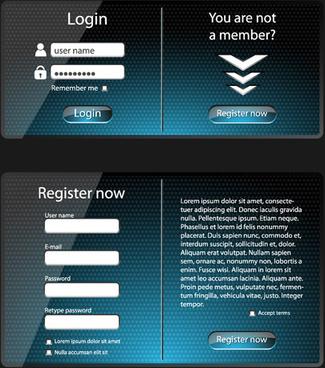 glass web interface design vector