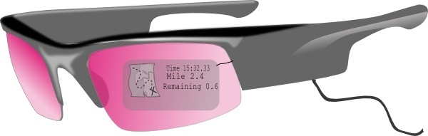 Glasses With Gps clip art