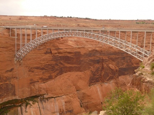 glen canyon bridge bridge steel-arch bridge