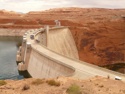 glen canyon dam arch gravity dam colorado river