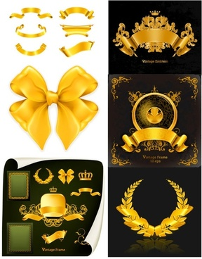 glittering decorations vector