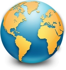 Global earth world map