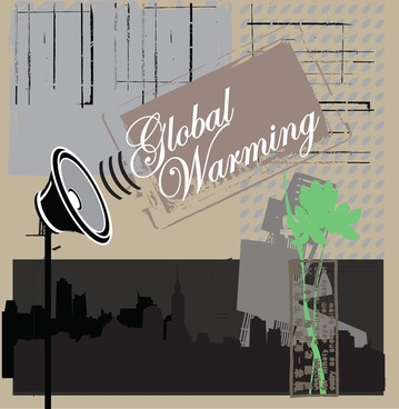 global warning vector