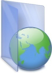 Globe earth folder