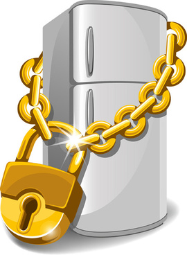 glod lock objects vector graphic