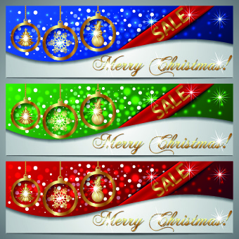 gloss christmas sale banner vector