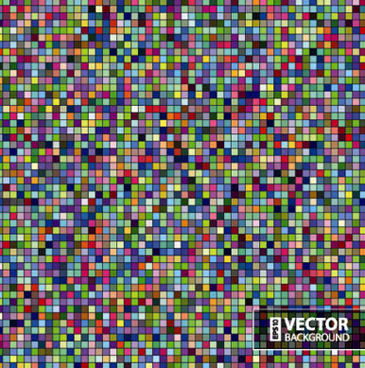 gloss color mosaic background graphic vector