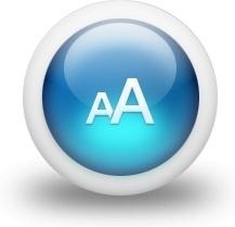 Glossy 3d blue fontsize