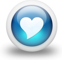 Glossy 3d blue heart