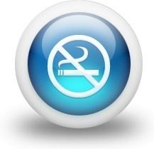 Glossy 3d blue non smoking