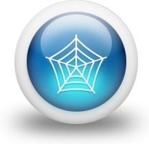 Glossy 3d blue web
