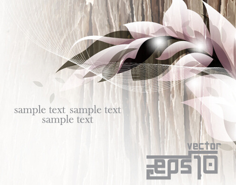 glossy abstract background with floral vector