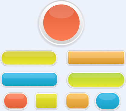 glossy buttons vectors