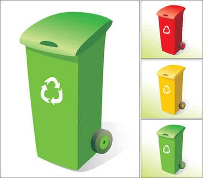 glossy colored trash vectors