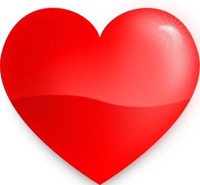 Glossy Heart clip art