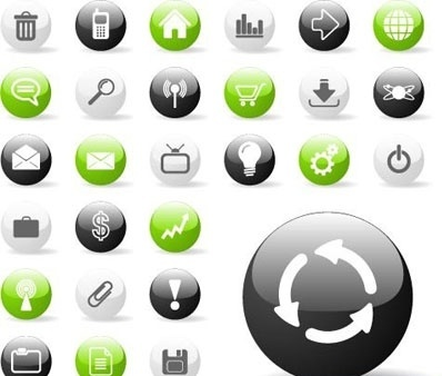 Glossy Icon Set for Web Applications 2
