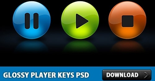 Glossy Player Keys PSD