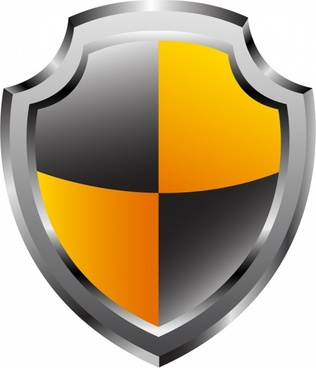 Glossy shield. Vector