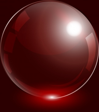glossy sphere design red light effect style