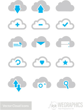 gloud icons vector