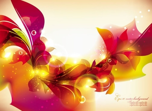 glow bright floral pattern background 03 vector