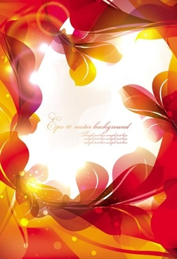 card background template sparkling floral decor