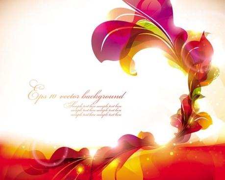 decorative floral background template vivid sparkling modern design