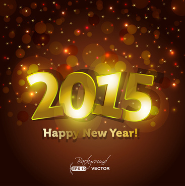 glowing15 new year holiday background vector