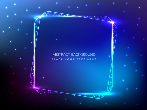 glowing abstract square background