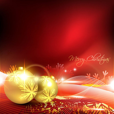 glowing christmas ornaments vector backgrounds