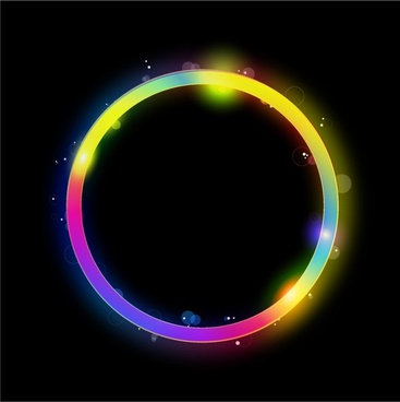 Glowing circle vector