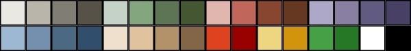 Gnome Color Palette clip art