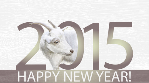 goat with15 new year backgroud art