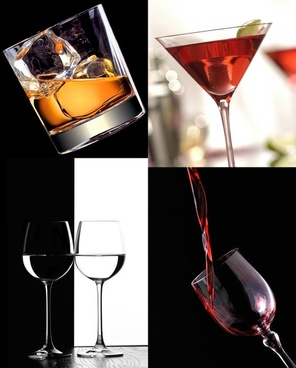 goblet and wine highdefinition picture