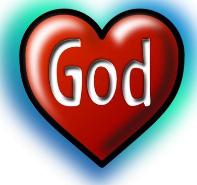 God Heart clip art