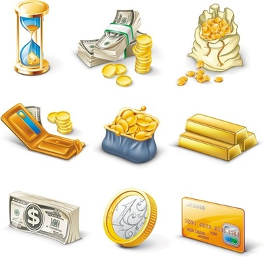 gold brick notes vector