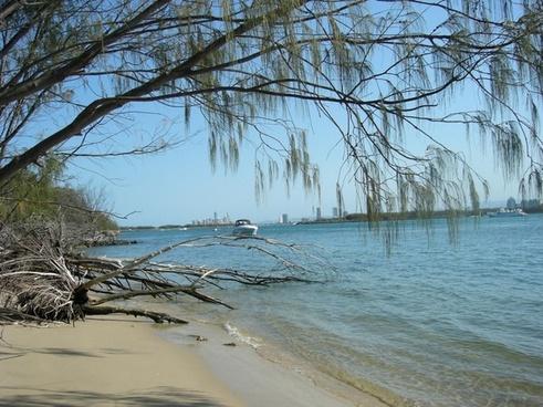 gold coast broadwater beach resort sand