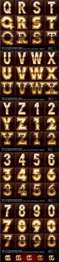 gold color letter8 digital vector