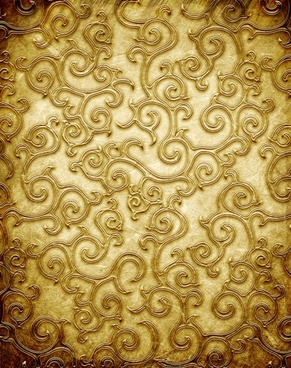 gold copperplate pattern engraved hd picture 2
