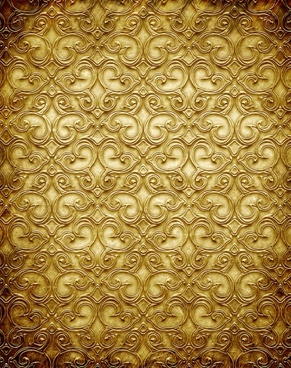 gold copperplate pattern engraved hd picture 3