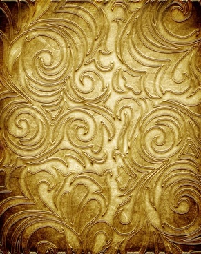 gold copperplate pattern engraved hd picture 4