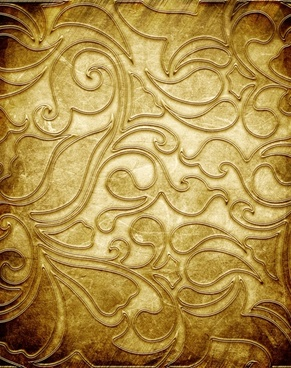 gold copperplate pattern engraved hd picture 5