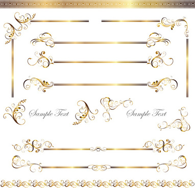 gold decoration border vector