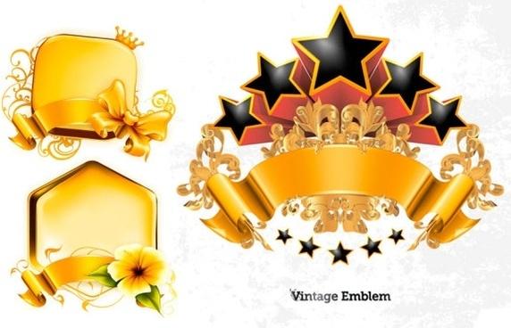 gold decorative graphics vector