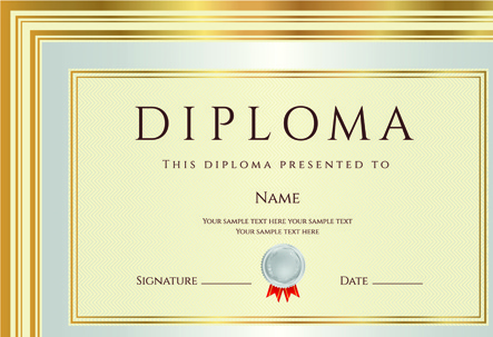 gold diploma cover template